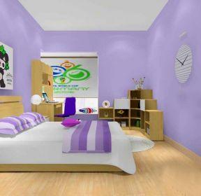 臥室彩色墻面裝修設計圖-每日推薦