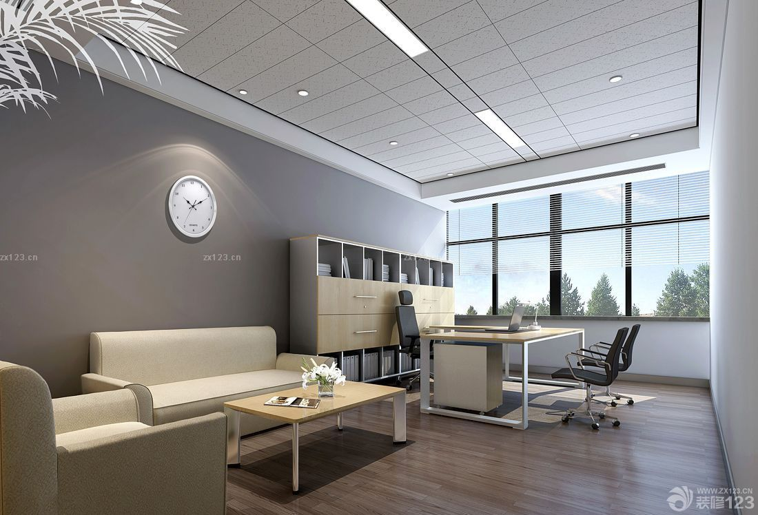 现代风格经理办公室设计效果图欣赏