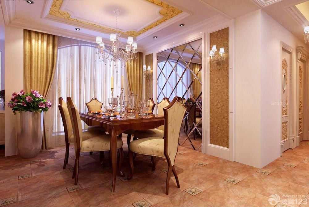 欧式餐桌家庭室内装修样板房图片图片