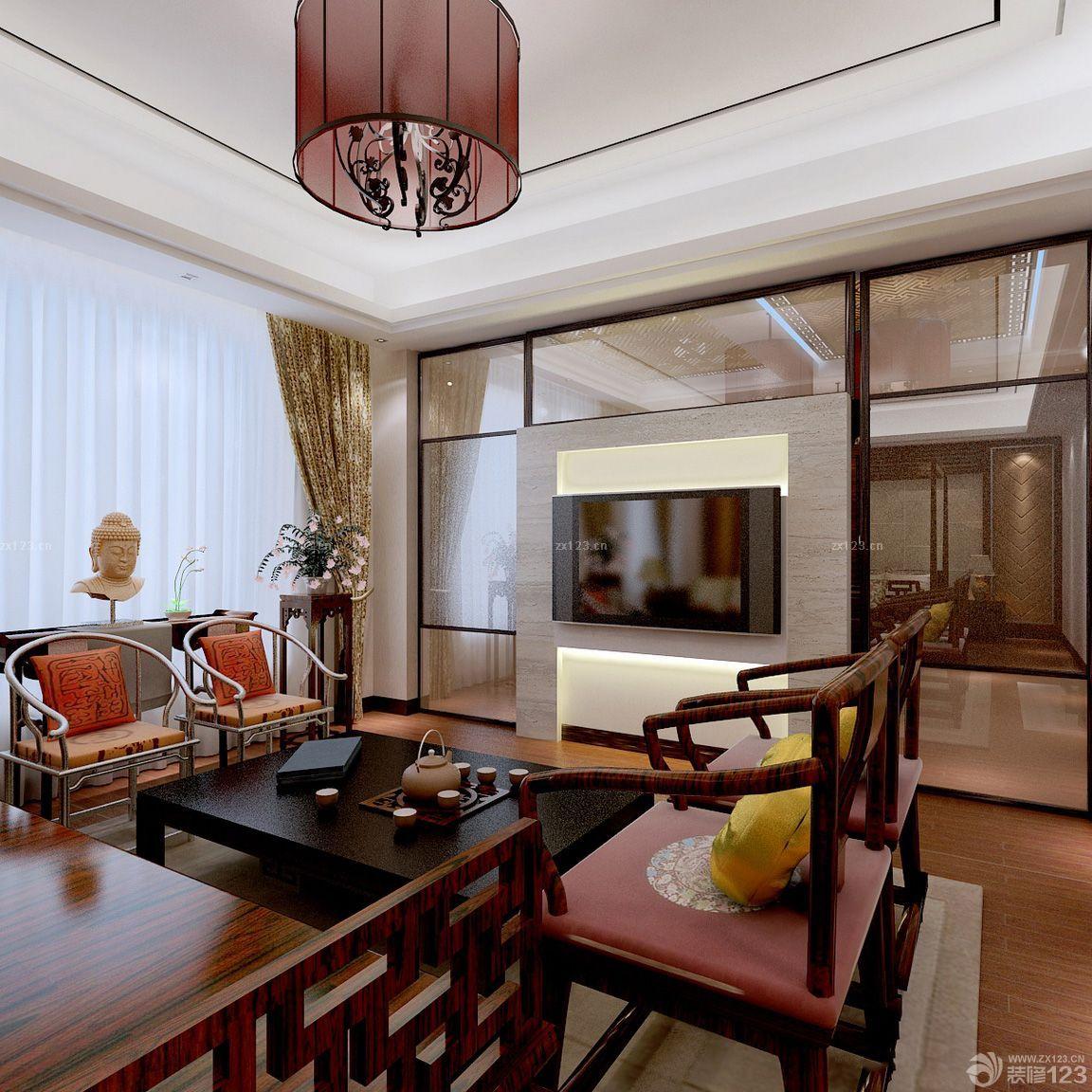 中式家装大理石地板砖设计效果图图片