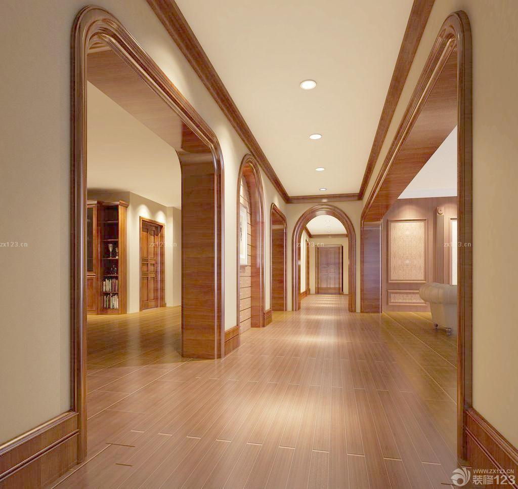 五星级酒店走廊玄关装修样板