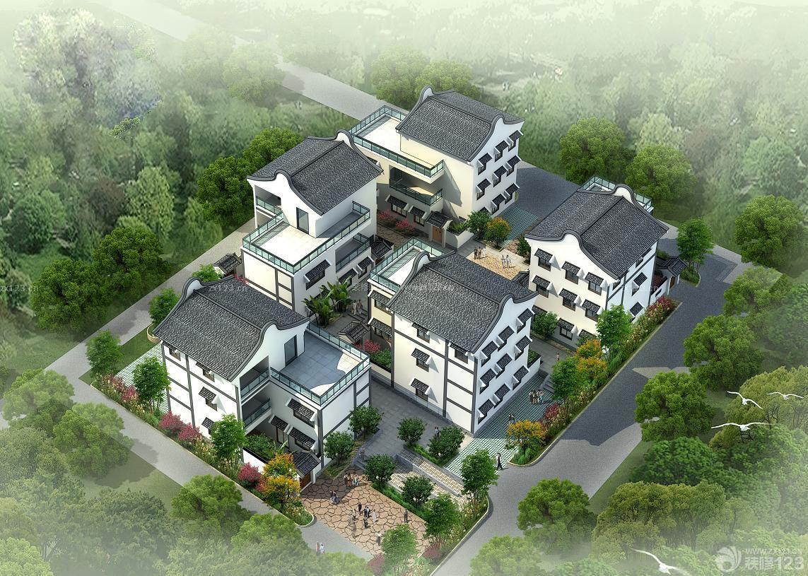 现代简约风格农村三层房屋设计图图片