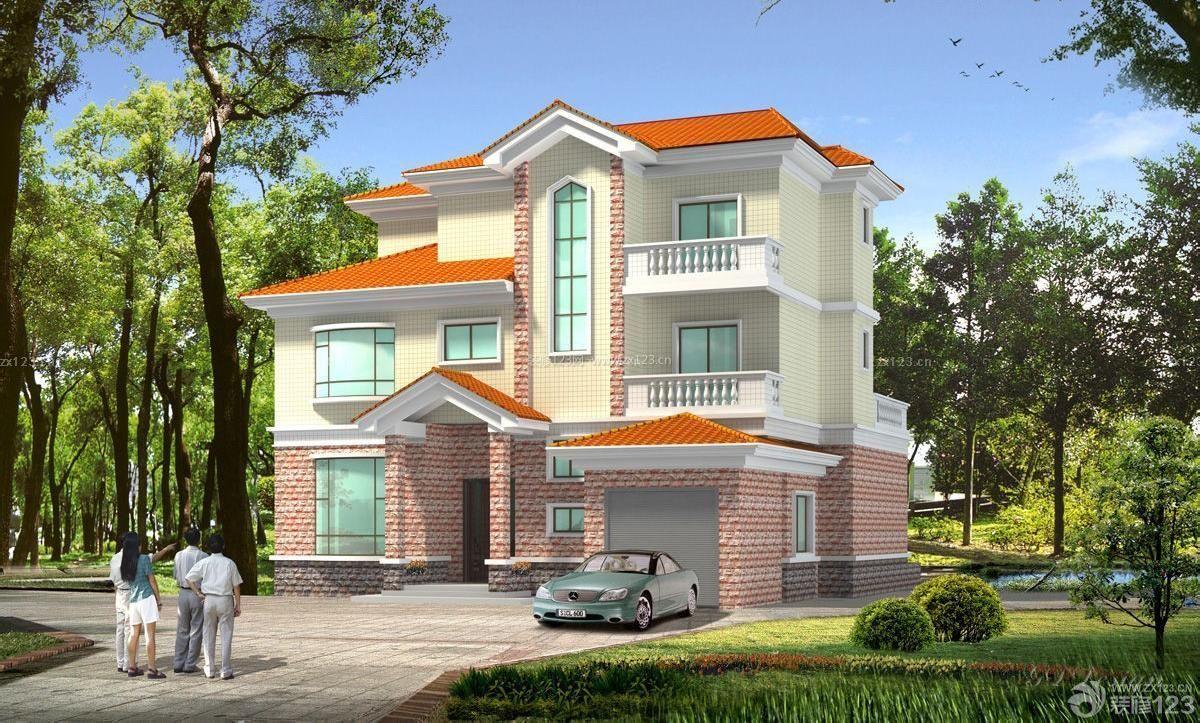 简约风格农村三层房屋设计图图片