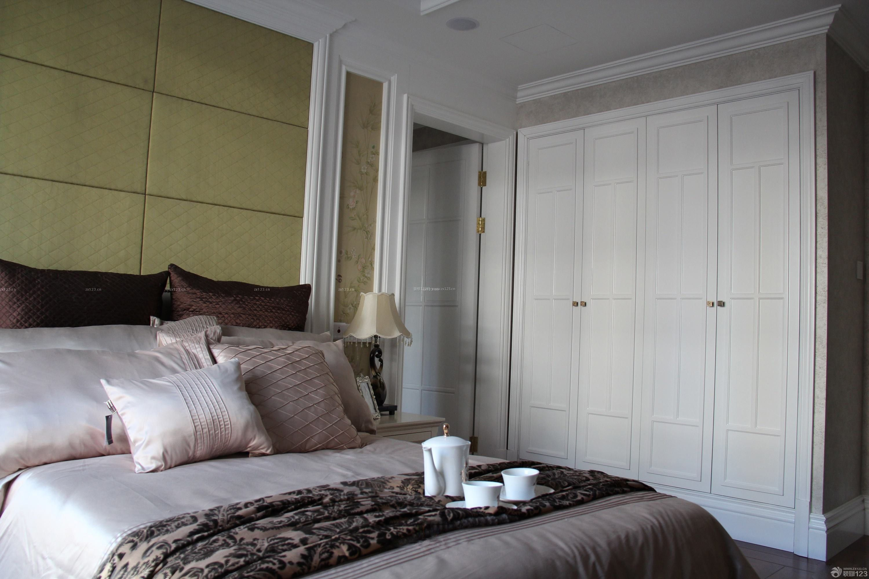 美式风格卧室入墙衣柜图片_装修123效果图图片