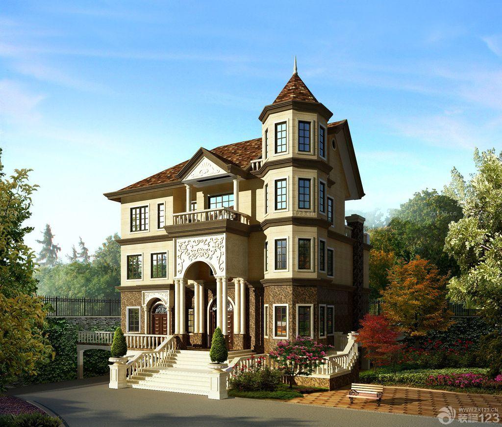 欧式二层别墅外观设计图片