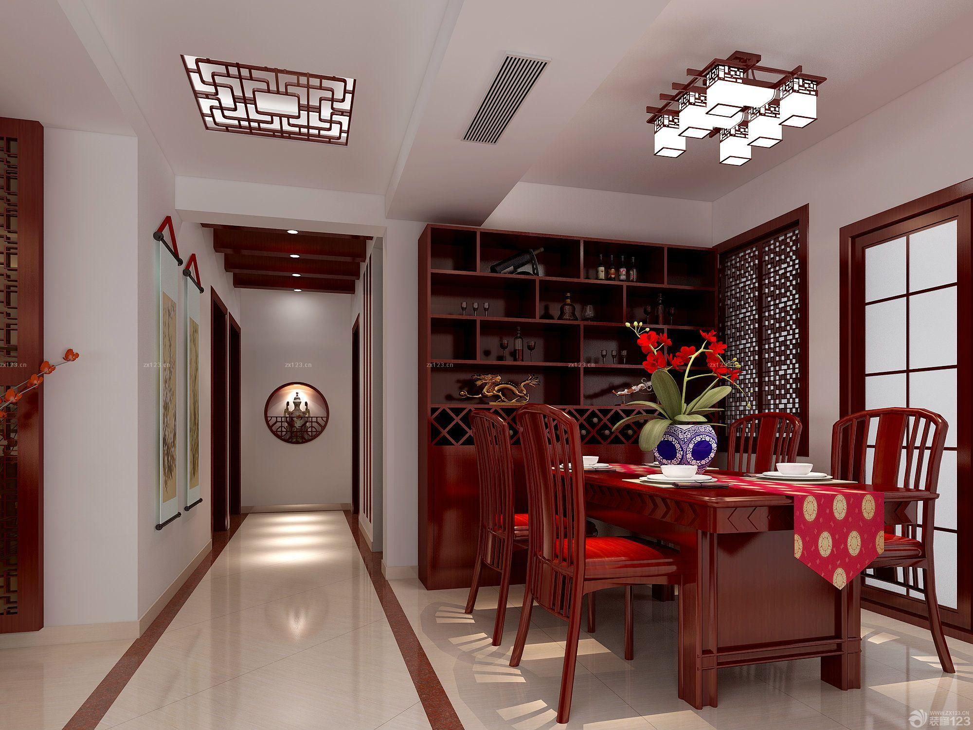 2015最新家庭室内红木色门装修图片_装修123效果图