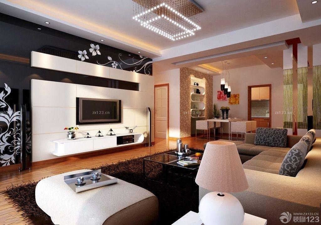 烤漆玻璃电视背景墙设计图
