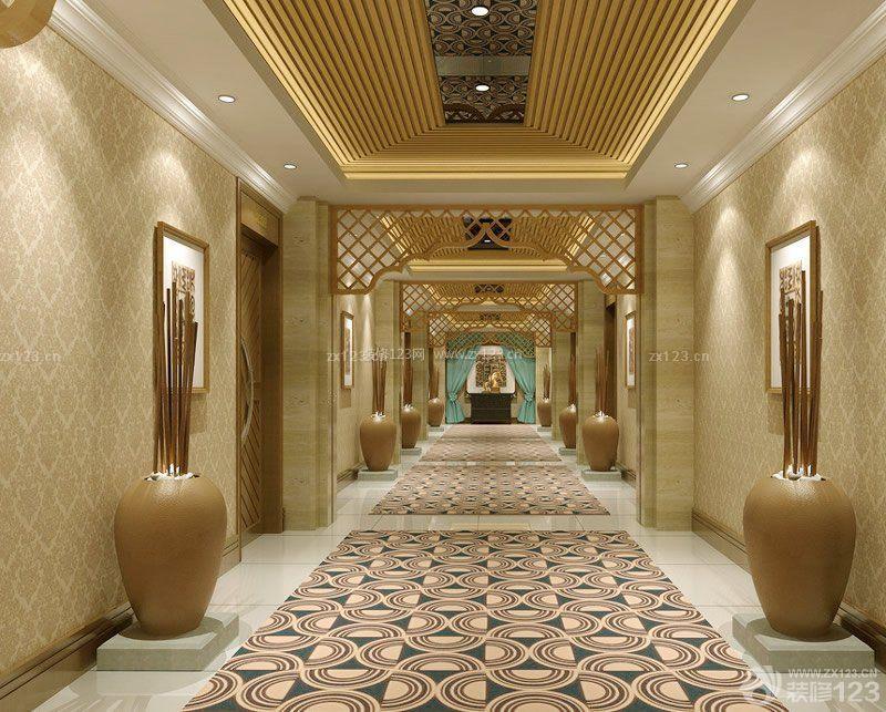 工装效果图 欧式 时尚欧式酒店过道金色吊顶装修效果图欣赏 提供者