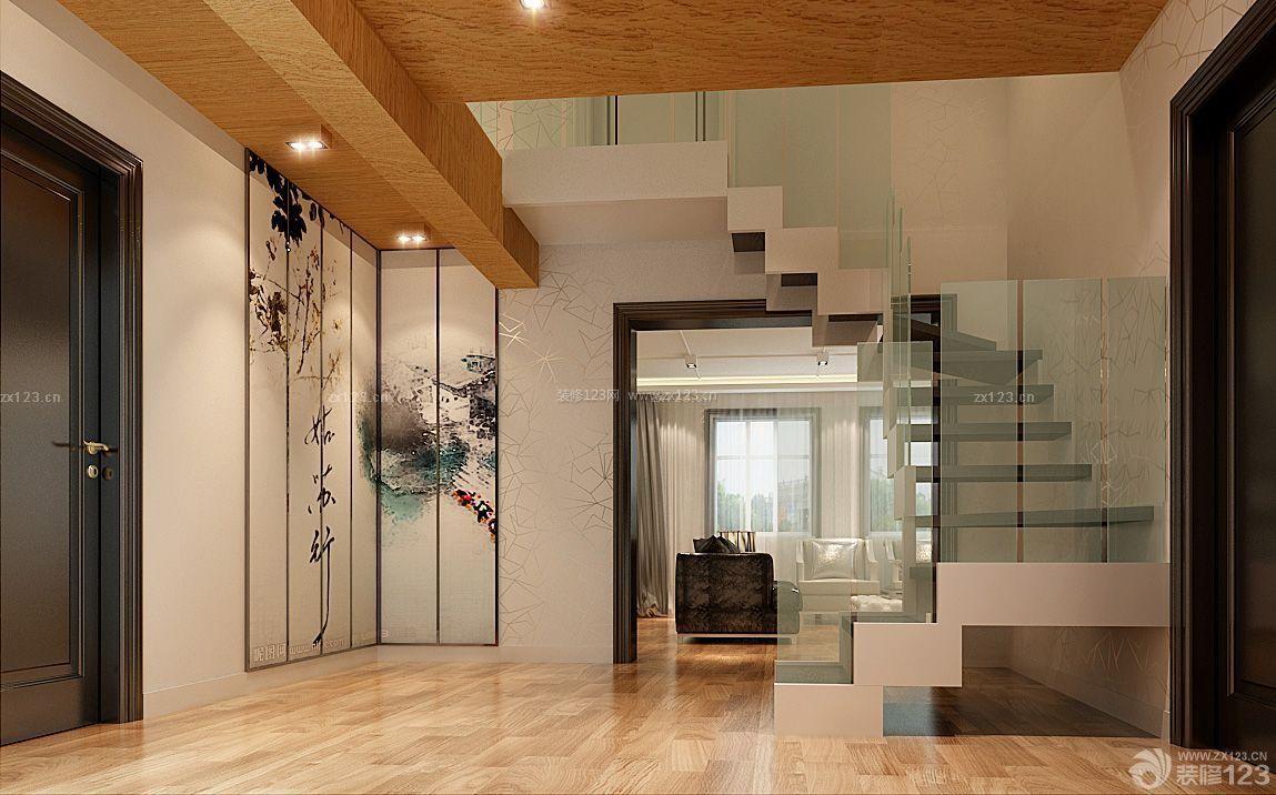 复式楼楼梯玻璃护栏设计图