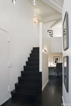 簡約黑白風格小復式樓裝修效果圖