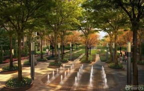 噴泉 花園洋房