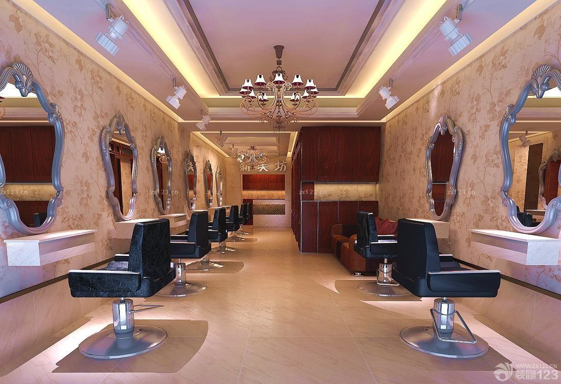 时尚简约风格发廊装修设计效果图大全