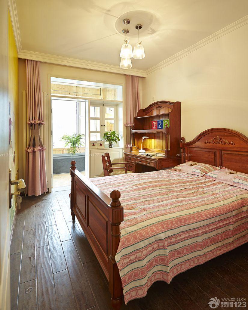 7平米卧室实木儿童床摆放效果图片