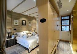 中式田園風格臥室雙人床設計圖