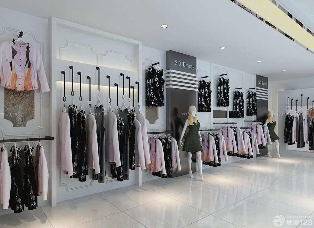 欧式风格女装服装店装修效果图