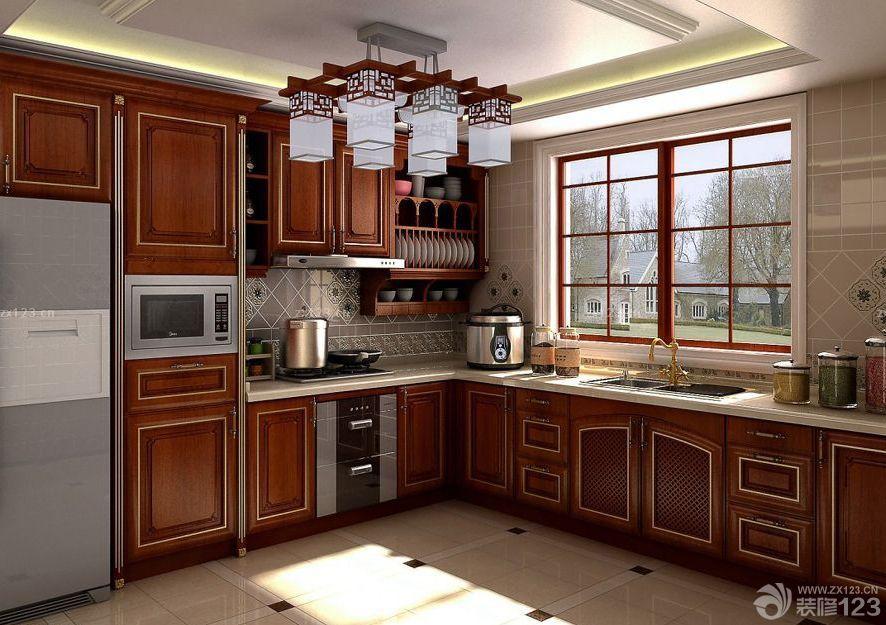 混搭风格别墅厨房卫生间吊顶设计图