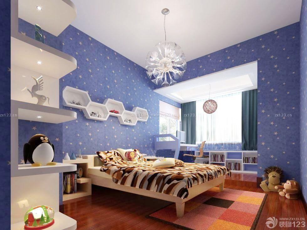 现代儿童房壁纸设计图