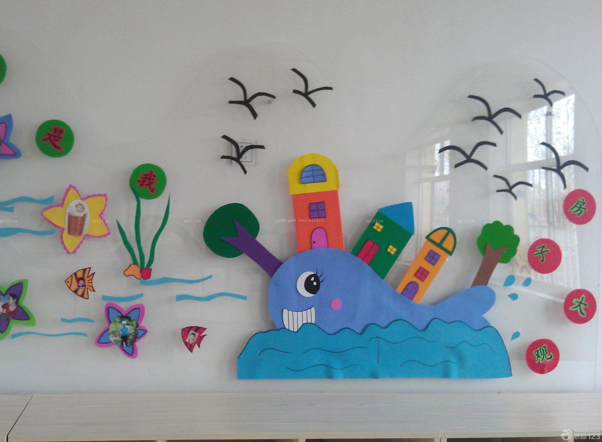 幼儿园主题墙正方形边框设计图片展示
