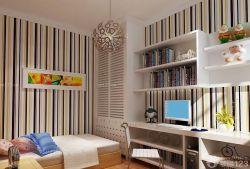 美式簡約風格兒童房壁紙裝飾圖