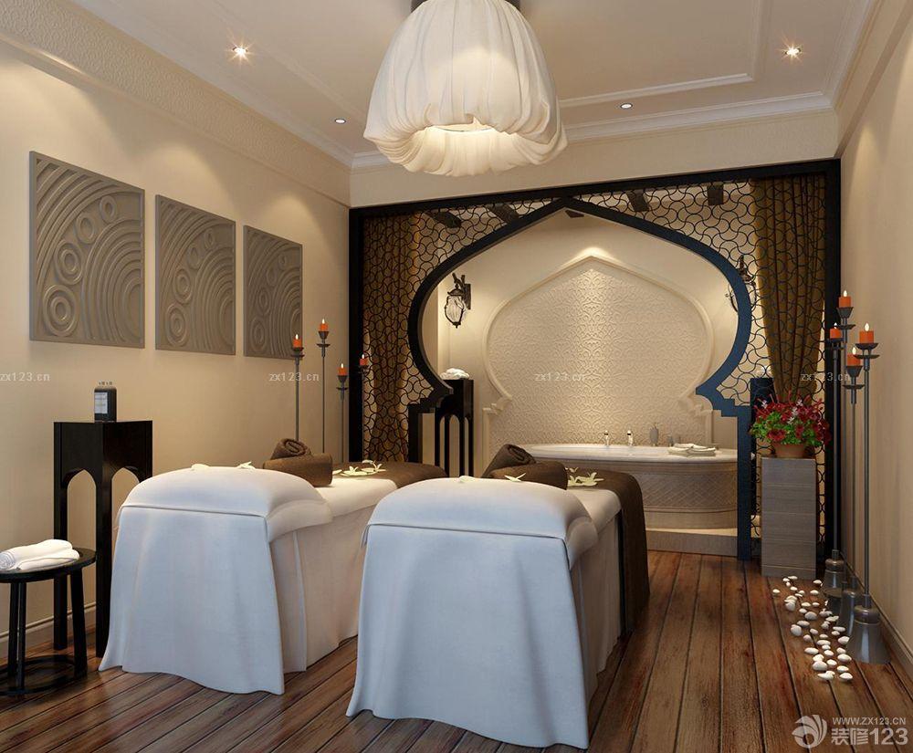 欧式风格美容院按摩床装修实景图
