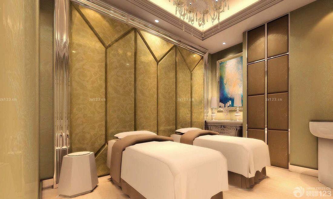 欧式风格美容院按摩床装修实景图_装修123效果图