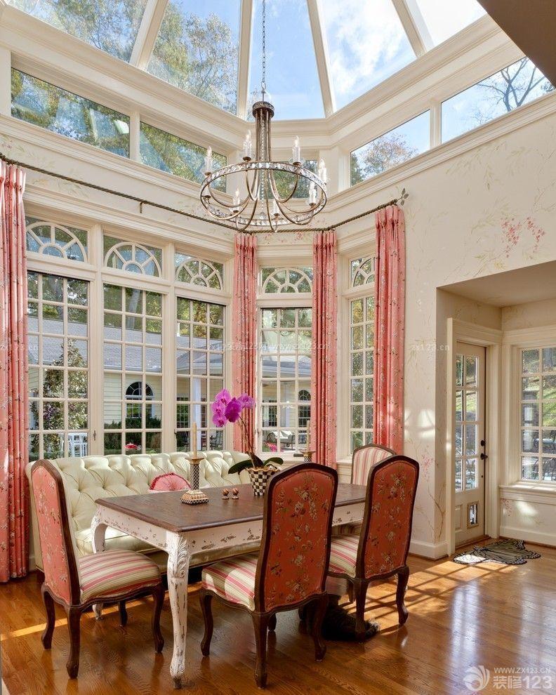 欧式家装小户型露天阳光房装修实景图