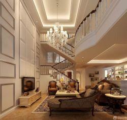 高檔別墅室內樓梯設計裝修效果圖