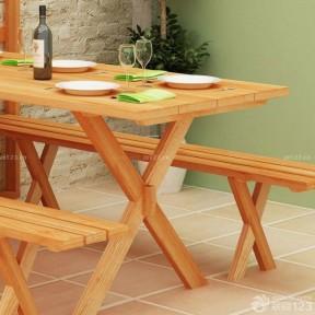實木折疊餐桌 簡約家居