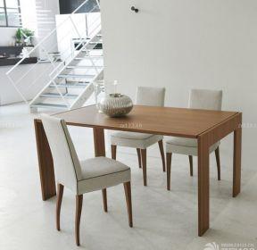 簡約家居實木折疊餐桌設計圖片大全-每日推薦