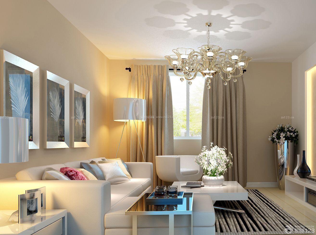 北欧风格一室一厅客厅装修样板房