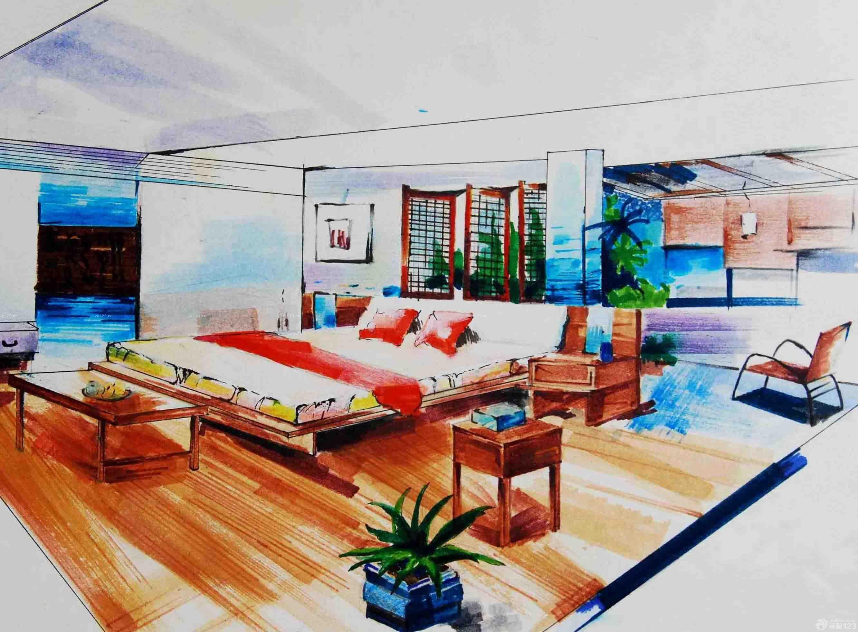 海景别墅室内手绘设计效果图