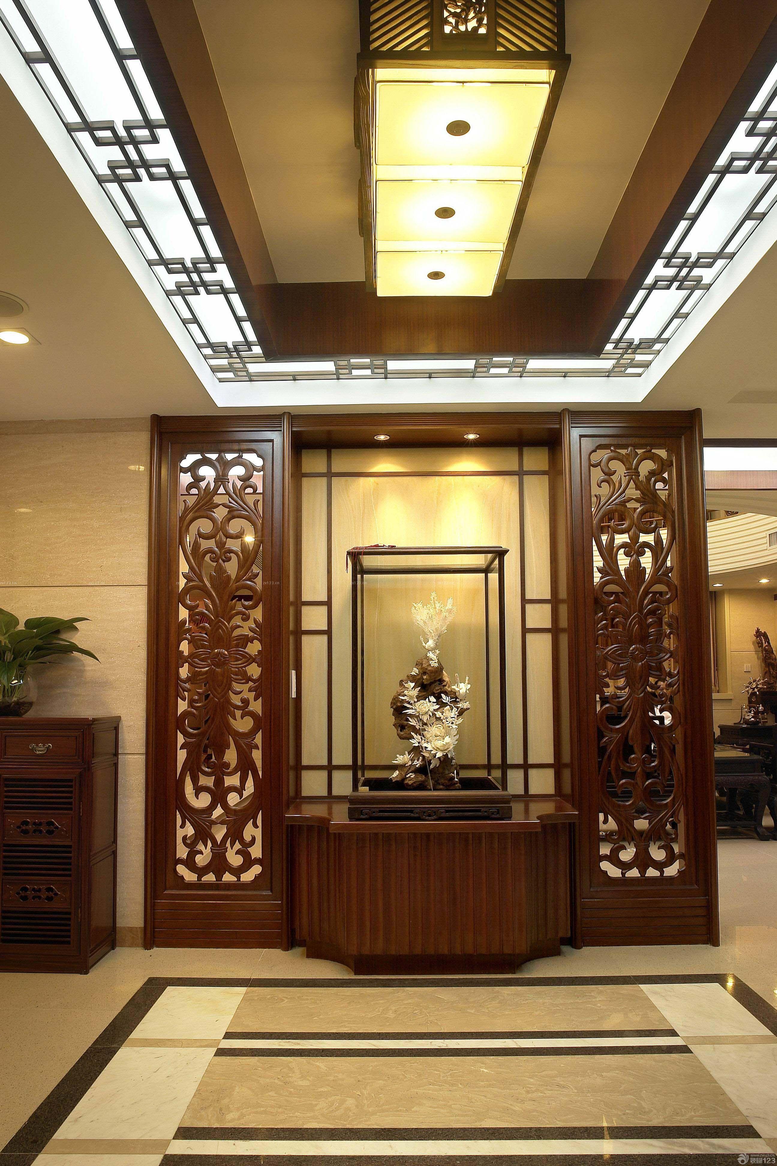 中式古典风格入户门设计装修效果图图片