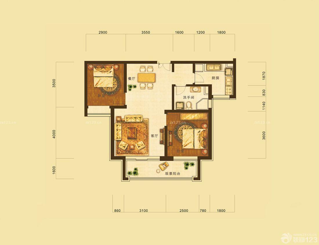 简易农村80平方房屋设计图图片