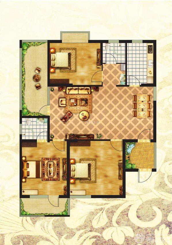 80平方米房屋设计图长10米,宽8米,四层,一楼门面,只有前后有彩
