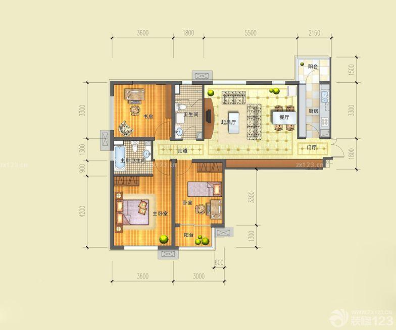 小两居室农村80平方房屋设计图