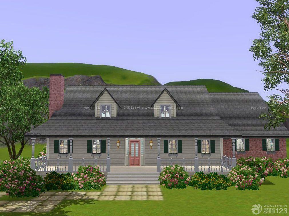 一层半别墅农村房屋设计图片大全案例欣赏