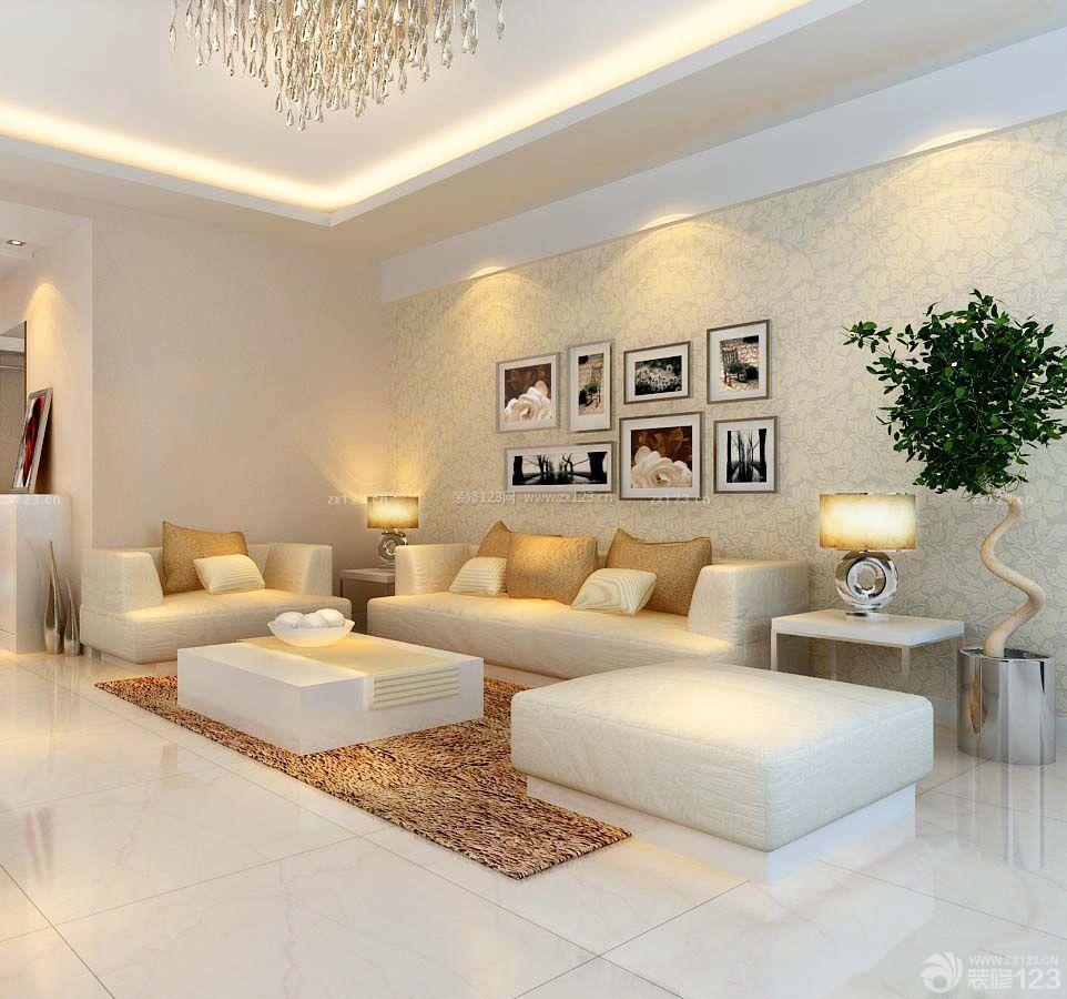小戶型一室一廳一廚一衛客廳沙發裝修設計圖