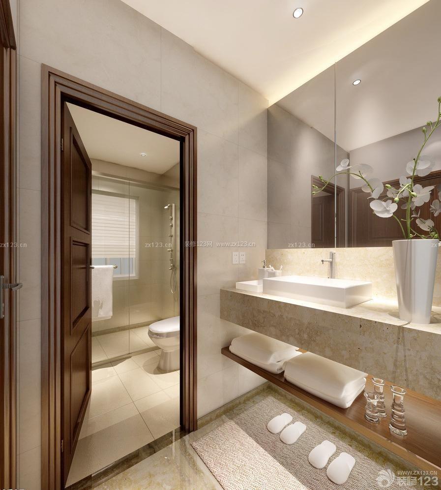 商务宾馆小户型洗手间装修案例