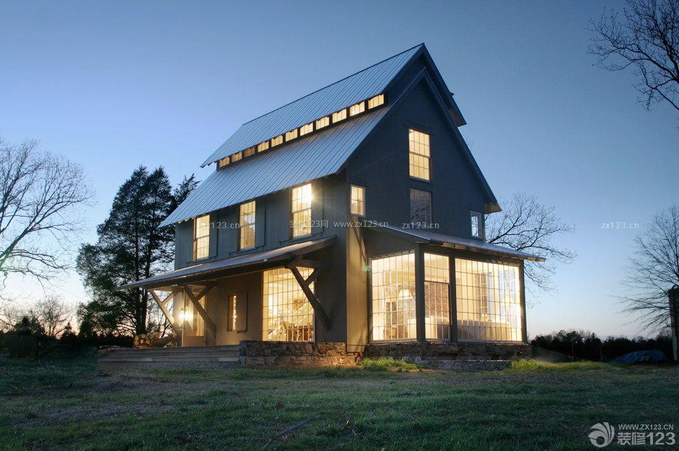 一层半农村房子外观设计效果图_装修123效果图