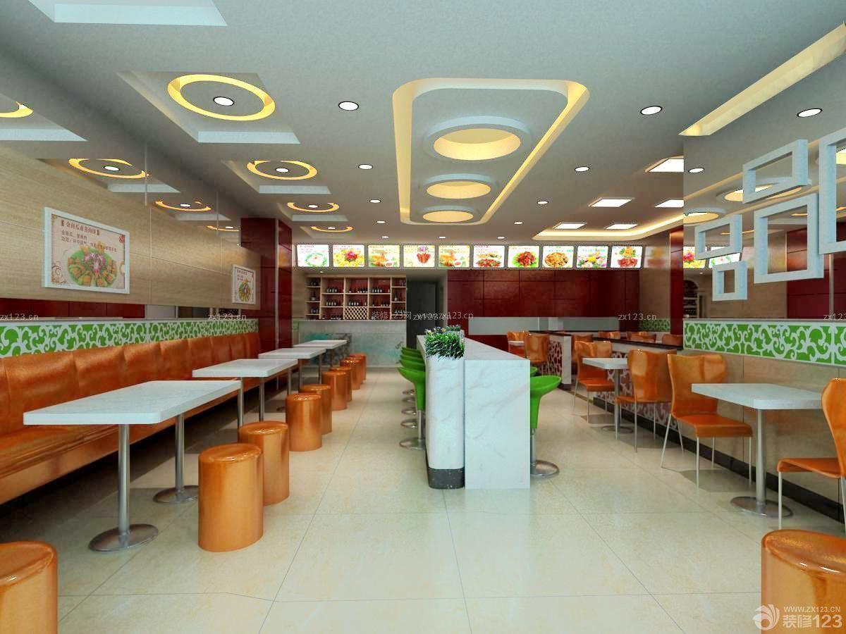 小型快餐店吧台设计案例