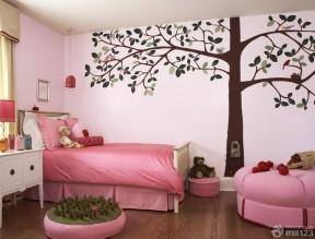 室內手繪 粉色墻面