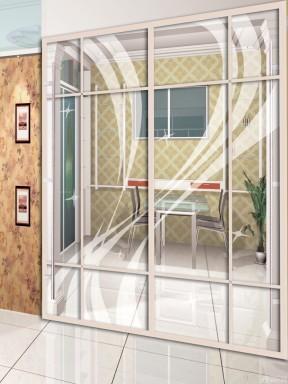 客厅隔断玻璃移动门装修效果图片图片