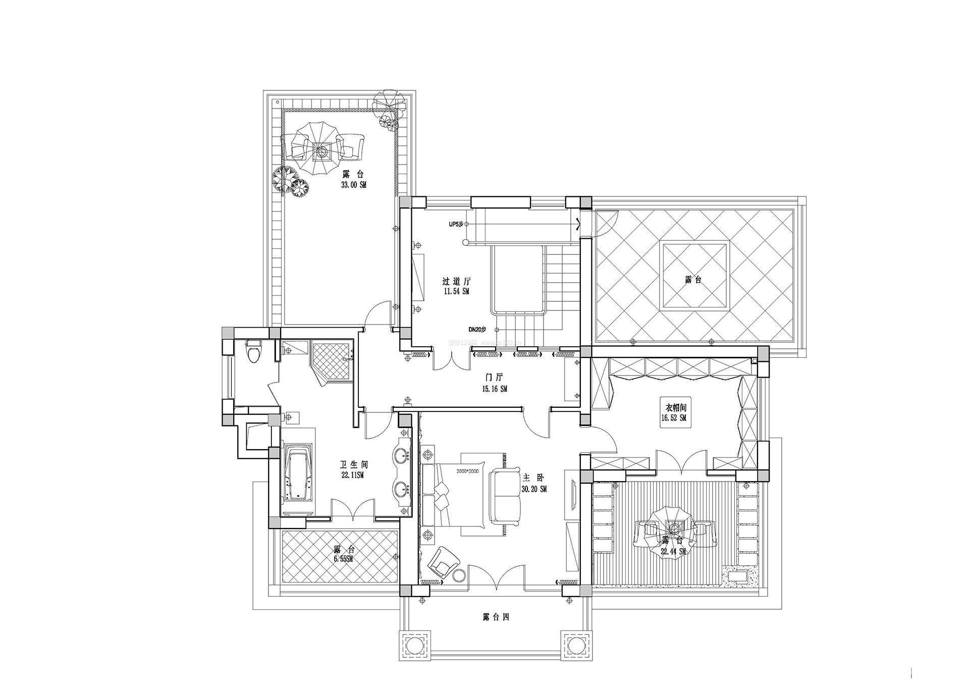 楼房露台设计平面图