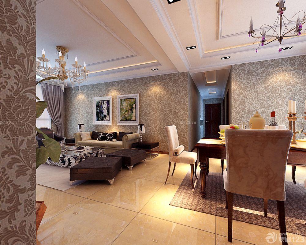 100平米房屋最新简欧风格客厅装修效果图图片