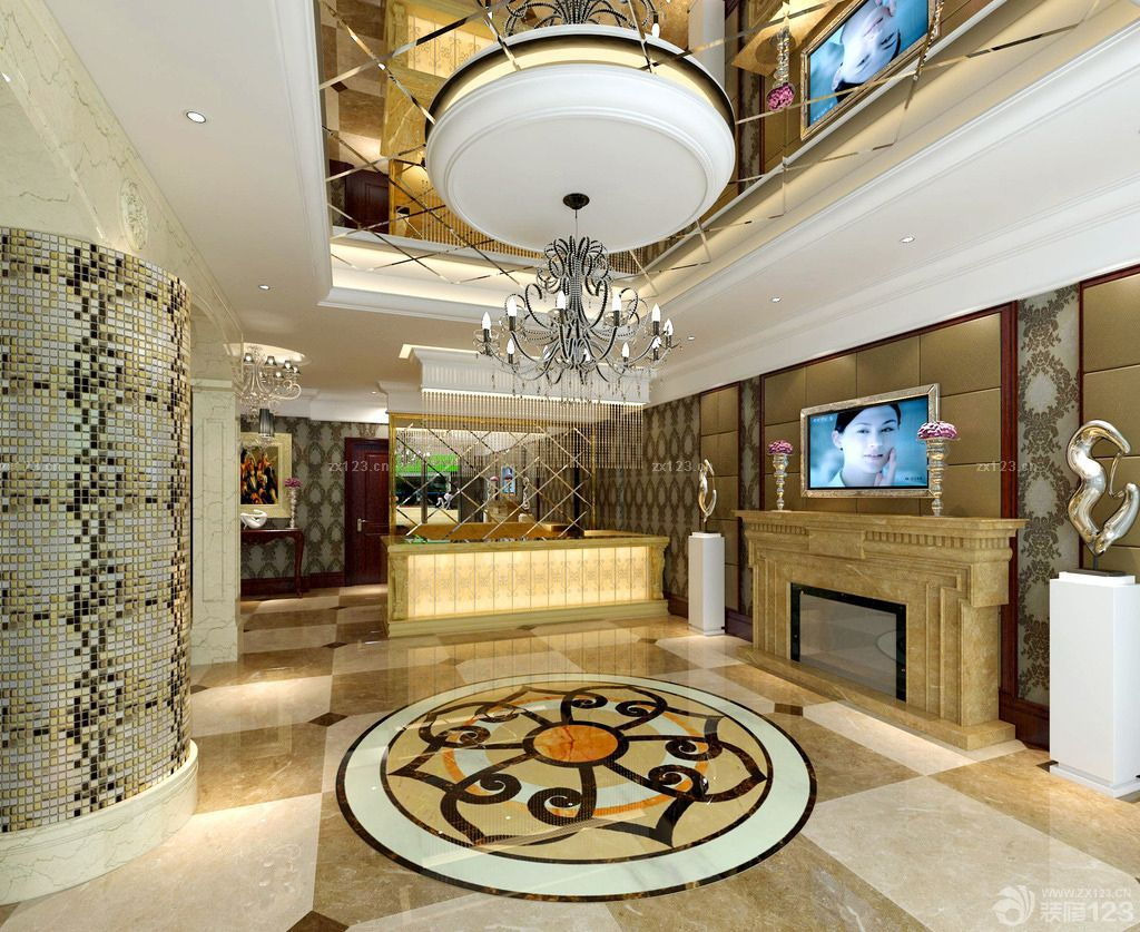 豪华欧式美容院大厅装修图片欣赏
