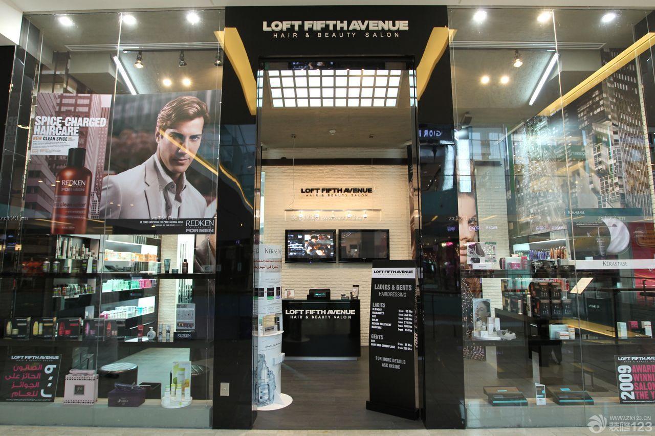高端理发店门头广告形象墙设计