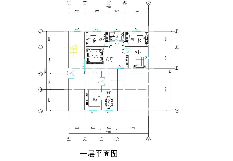 三层楼房平面图设计