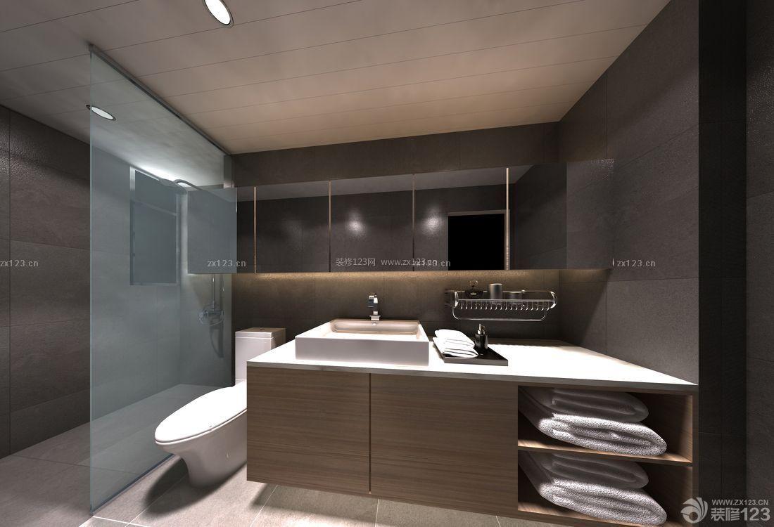 家庭浴室家用储物柜设计图片