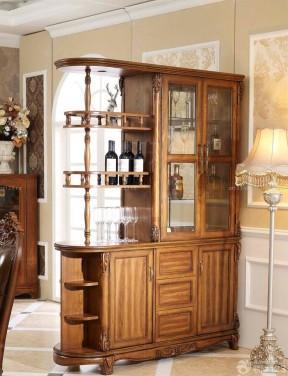 客廳玄關酒柜隔斷 樣板房