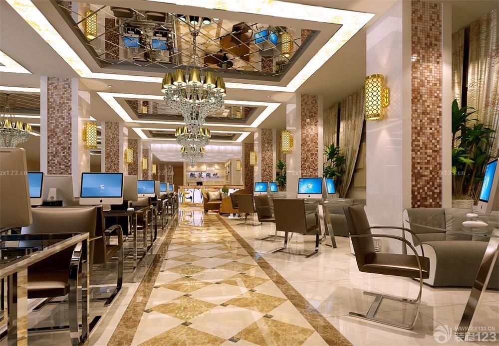 豪华欧式风格网吧室内设计